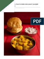 Vegrecipesofindia.com-Aloo Poori Recipe How to Make Aloo Poori Punjabi Aloo Poori Recipe
