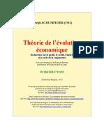 Schumpeter,Joseph - Théorie de l'évolution économique