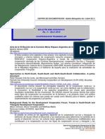 Boletin Bibliografico Nº 3 Abril 2011 Cooperacion Triangular