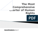 The Most Comprehensive Charter of Human Rights