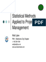 Statistical Methods Applied to Project Management