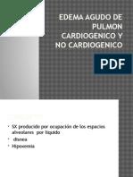Edema Agudo de Pulmon Cardiogenico y No Cardiogenico