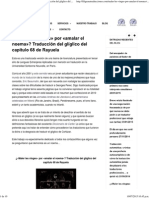 Traducción Del Glíglico Del Capítulo 68 de Rayuela - Filigrana Traducciones _ Filigrana Traducciones