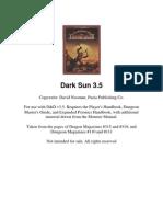 Dark Sun Campaign Setting 3.5 Complete)