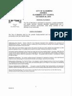 October 26, 2015 City Council Agenda