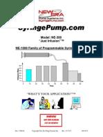 NE-300 Just Infusion User Manual
