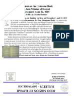 Jodo Mission Bulletin - November 2015