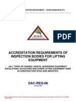 Accreditation Requorements of Inspection Bodies for Lifting Equipment