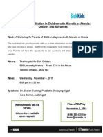 2015 11 04 Flyer IHP Workshop for Parents Microtia-Atresia