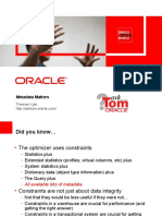 Metadata Matters by Tom Kyte (Oracle)