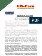 Informe de acciones para la I CONVENCIÓN del CIS-Perú