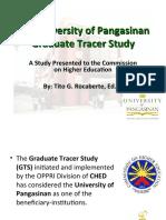 The University of Pangasinan Graduate Tracer Study