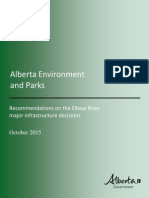 Recommendations on the Elbow River major infrastructure decisions
