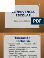 Convivencia Escolar Escuela Inclusiva