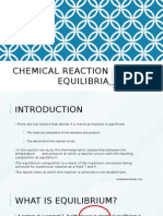 Chemical Reaction Equilibria