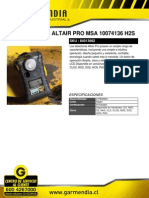 Detector Gas Altair Pro Msa 10074136 h2s