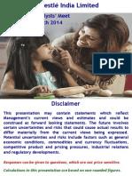 Analysts Meet Finance Mar14