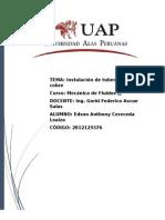 Informe de Instalacion de Tubos de Cobre
