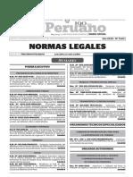 Normas Legales, lunes 26 de octubre del 2015