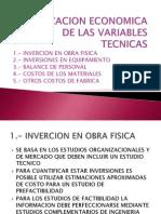 Valorizacion Economica de Las Variables Tecnicas