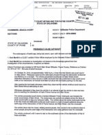 Arrest affidavit for Adacia Chambers