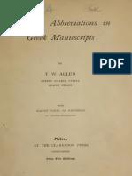 Allen Greek Abbreviations