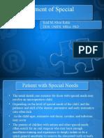 la management of special ptient