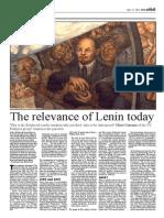 Relevance of Lenin Today