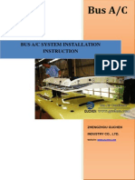 Bus Air Conditioner System Installation Instruction