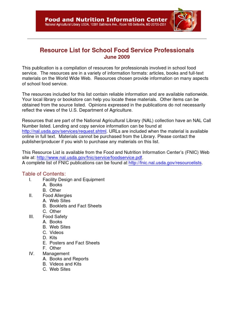 food service foodservice foods