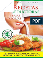 Recetas reductoras y bajas calorías