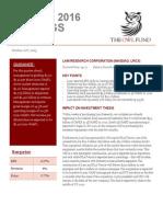 LRCX Q1 2016 Earnings Report