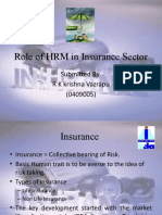 Role of HRM in Insurance Sector