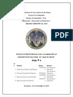 Estudio de Prefactibilidad (AMAR ES SERVIR)