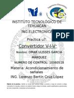Reporte de La Practica Convertidor v-I-V