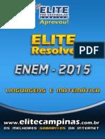 Elite Resolve ENEM 2015 Linguagens-Matematica