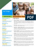 UNICEF DR Congo Quarterly Humanitarian Report April - June 2015