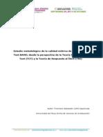 1.3_Cofré_Francisco_Estudio Metodológico de La Calidad Métrica de Los Ítems Del Test BAVEL Desde La Perspectiva de La Teoría Clásica de Los Test (TCT) y La Teoría de Respuesta Al Ítem (TRI)