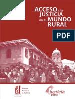 La Rosa Calle, Javier - Acceso a La Justicia en El Mundo Rural