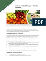 5 Loncheras Nutritivas y Saludables Para El Inicio de Clases de Los Niños