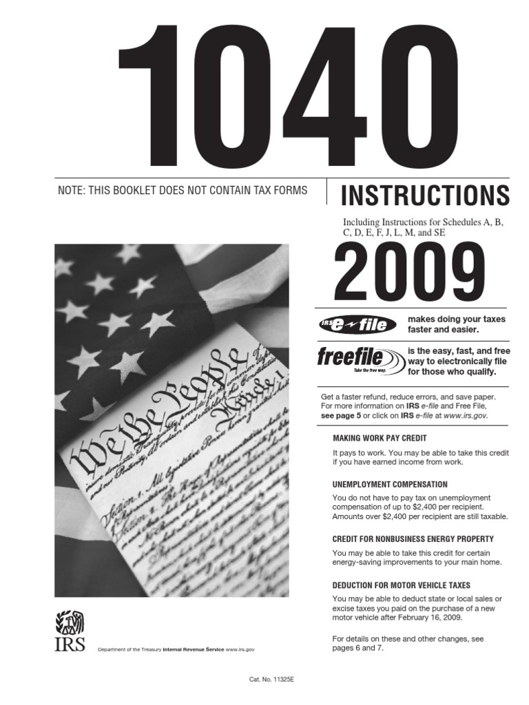 I1040 Irs Instruction Book Income Tax In The United States