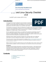AusCERT - AusCERT UNIX and Linux Security Checklist v3