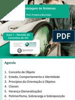 Modelagem de Sistemas - 2015.2 - Aula 01 - Revisão de Conceitos de OO