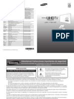 Manual TV UHD samsung curvo 65 pulgadas