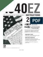 2009 1040ez IRS Instruction Book