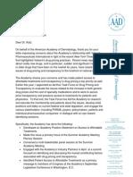 AAD Letter to Katz Re Valeant 10.19.15