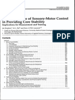 La Importancia Del Control Sensorio Motor en La Estabilidad de Core Articulo de Revisión