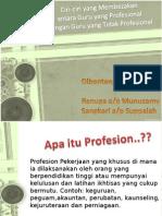 Guru Profesional vs Tidak Profesional Renu Sangkari 1
