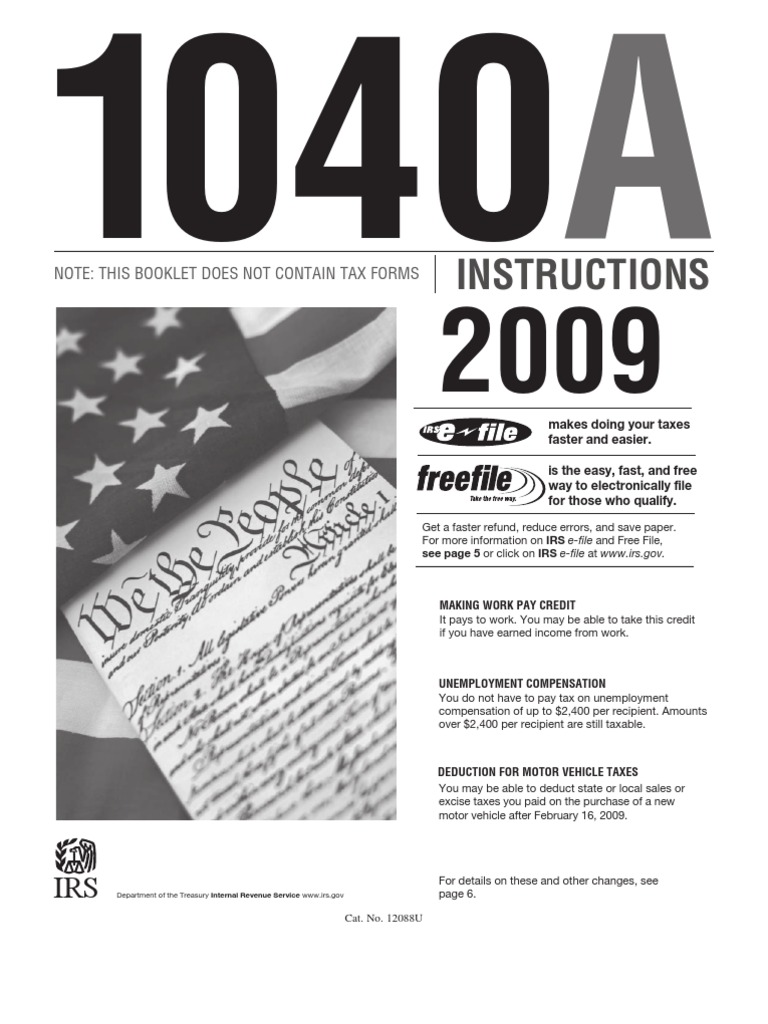 Irs 1040a instruction book irs tax forms alternative minimum tax falaconquin