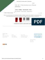 Piano Chord de C Decimotercera Menor_ C Min13 Acordes